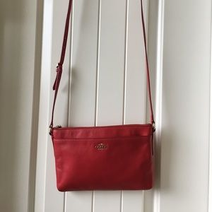 Red Coach Kitt Crossbody